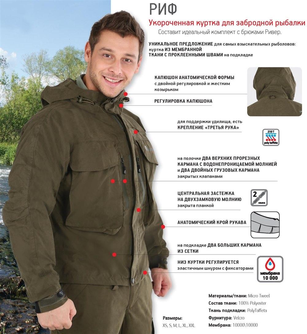 куртка для рыбаков