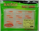 Силиконовая резина MAYSON Stinger Tail, длина 1,5 дюйма (38 мм), цвет - 112, набор - 15 шт.