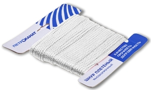 Шнур плетеный Стандарт длина 20 м, на карточке, диаметр 3,1 мм, белый