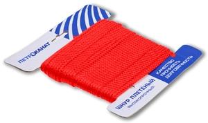 Шнур плетеный Стандарт длина 20 м, на карточке, диаметр 2,5 мм, красный