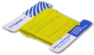 Шнур плетеный Стандарт длина 20 м, на карточке, диаметр 2,5 мм, желтый