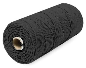 Шнур плетеный Стандарт длина 500 м,на бобине, диаметр 1,5 мм, черный