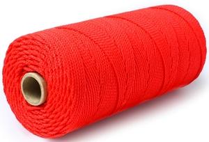 Шнур плетеный Стандарт длина 500м, на бобине, диаметр 2,5 мм, красный