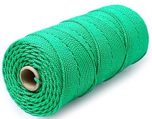 Шнур плетеный Стандарт длина 500м, на бобине, диаметр 2,5 мм, зеленый