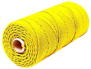 Шнур плетеный Стандарт длина 500 м,на бобине, диаметр 1,5 мм, желтый