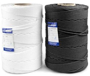 Шнур плетеный Стандарт длина 400 м, на катушке, диаметр 5 мм, белый