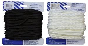 Шнур плетеный Стандарт длина 20м, на карточке - диаметр 4 мм, белый