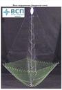 Зонт-Хапуга Амурская елка диагональ 1,6 м, высота 1,5 м, ячея косынок 40 мм, ячея низа 24 мм