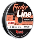 Леска Feeder Line Sport 250 м, черная, 4,7 кг, диаметр 0,21 мм.