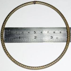 Кольцо грузовое разрезное, диаметр 140 мм, металл 5 мм, вес 60 гр.