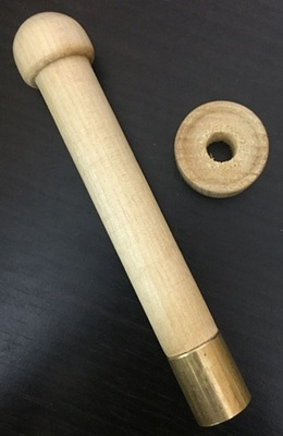 Навойник деревянный с латунным наконечником, калибр 16