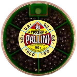 Набор мягких грузил для удочки PALLINI - общий вес 100 гр