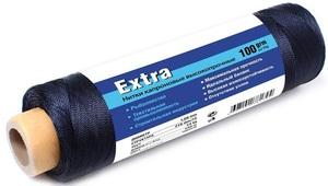 Нить капроновая черная Extra диаметр 2,00 мм, 210d/60, тест 85 кг, вес 100 гр, длина 60 м.