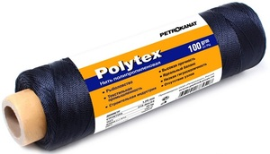 Нить полипропиленовая Polytex PES 210den/24, диаметр 1,20 мм, 160 м, 100 гр, черная