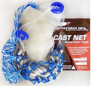 """Сеть кастинговая лесковая """"Fishtex"""" без кольца, ячейка 10 мм, диаметр купола - 3,6 м."""