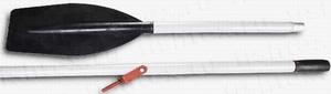 Весло катерное дюралевое разборное 1,8-1,9 м (широкая  пластиковая лопасть, с уключиной)  - 1 шт.