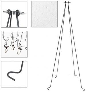 Подъемник Паук складной, оснащен сеткой из лески 0,15 мм, ячея 13 мм, размер 1,0х1,0 м.