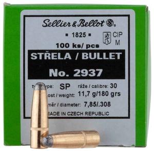 Пуля S&B к. .308 Win (7,62х51) SP латунь 11,7 гр, 50 шт.