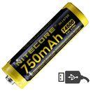 Аккумулятор со встроенным Micro-USB Nitecore NL1475R