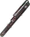 Патронташ открытый на 20 патронов 12 калибра и 6 патронов 7,62 калибра, VIP коричневая кожа и ткань
