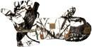 Варежки-перчатки Белый лес из виндблока-мембраны