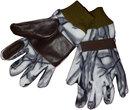 Перчатки охотника Белый лес из флиса