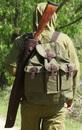 Футляр ружейный Стендовый  L-75 см, коричневая кожа с мехом