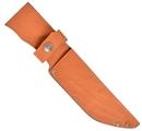 Ножны ХСН с рукояткой длина клинка 13 см,  люкс - светло-золотая кожа (арт. 6151-1)