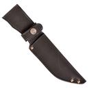 Ножны ХСН с рукояткой длина клинка 13 см,  люкс - черная кожа (арт. 6151-3)