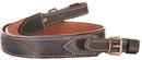 Ремень ХСН ружейный прямой с тиснением ширина 30 мм и с пряжкой, люкс коричневая кожа (арт.347-4)