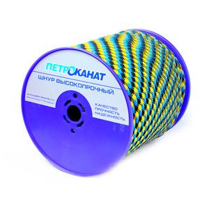 Шнур плетеный АКВА СПОРТ диаметр 10 мм, тест 1100 кг, длина 50 м, бухта